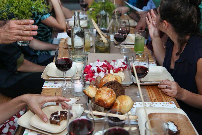 An alternative Shabbat meal. (Gefilteria/Shulie Seidler Feller)