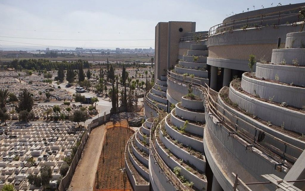This Oct. 6, 2014, photo shows a new vertical part of the Yarkon cemetery outside of the city of Petah Tikva, Israel. (AP/Dan Balilty)