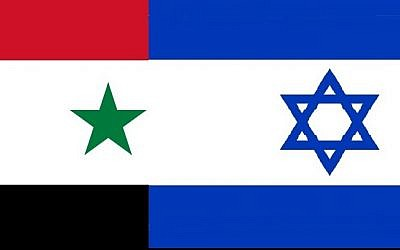 Flags of Israel and Syria