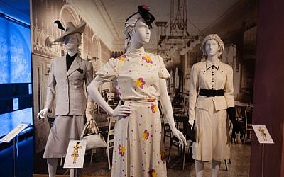Designs by Hedy Strnad displayed at the Jewish Museum Milwaukee exhibit. (Courtesy Jewish Museum Milwaukee/JTA)