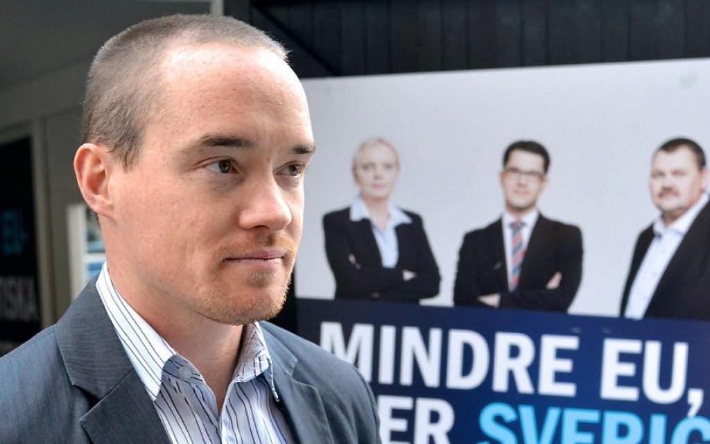 Swedish MP Kent Ekeroth (photo credit: CC BY-SA Kent Ekeroth/Wikipedia)