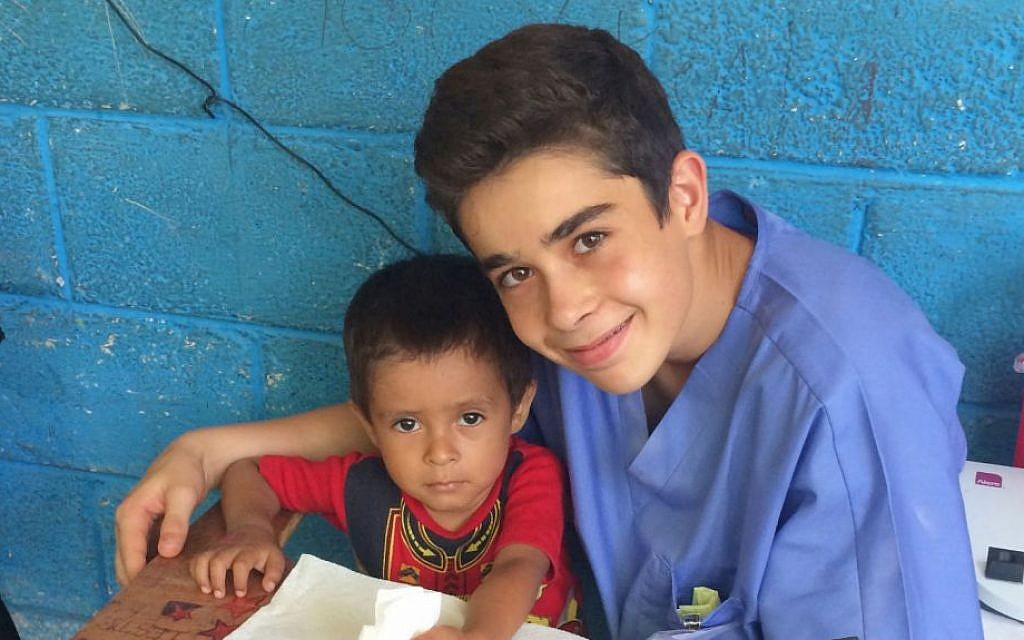 Volunteering in a developing country, Nathaniel Melnitsky says he saw 'how the world really is.' (Courtesy Nathaniel Melnitsky/JTA)