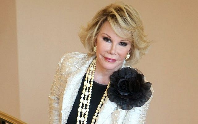 Joan Rivers in 2009 (photo credit: AP/Lionel Cironneau, File)