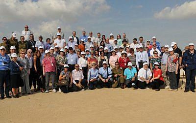 Honorary consuls of Israel visiting near the Gaza border, October 28, 2014 (photo credit: Shlomi Amsalem)