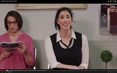 Sarah Silverman closes the gap. (photo credit: YouTube screenshot)