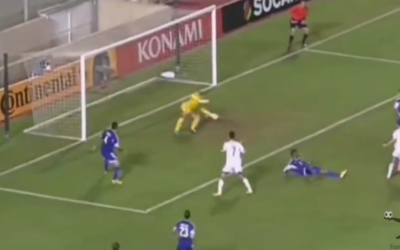 Israel scores its first goal in a 2:1 UEFA European Championship qualifier in Nicosia on October 10, 2014 (YouTube screenshot)