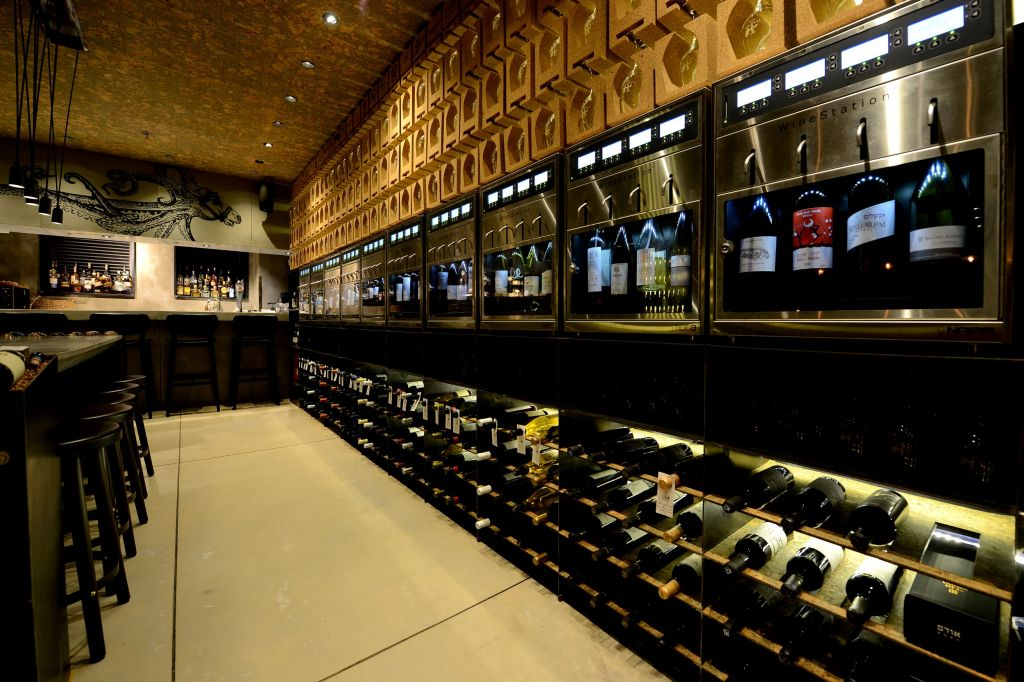 The fine wines of The Tasting Room at Sarona (photo credit: Ran Biran)