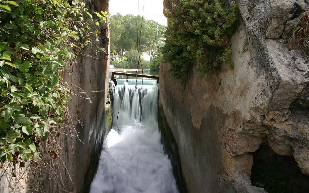 The modern dam at Nahal Taninim (photo credit: Shmuel Bar-Am)