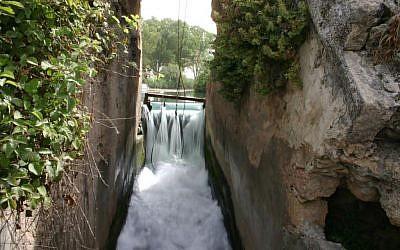 The modern dam at Nahal Taninim (photo credit: Shmuel Bar-Am)