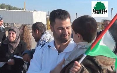 Abdullah Abu Rahmah is freed from an Israeli prison in March 2011 (photo credit: YouTube screenshot)