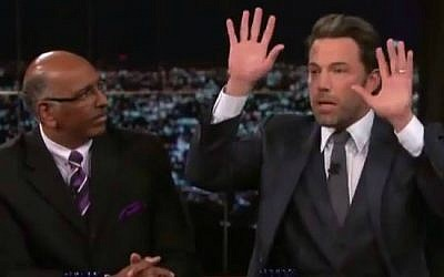 Ben Affleck (right) and former Republican Party chairman Michael Steele (left) having a debate about Islam on the HBO show 'Real Time with Bill Maher,' October 3, 2014. (YouTube screenshot)