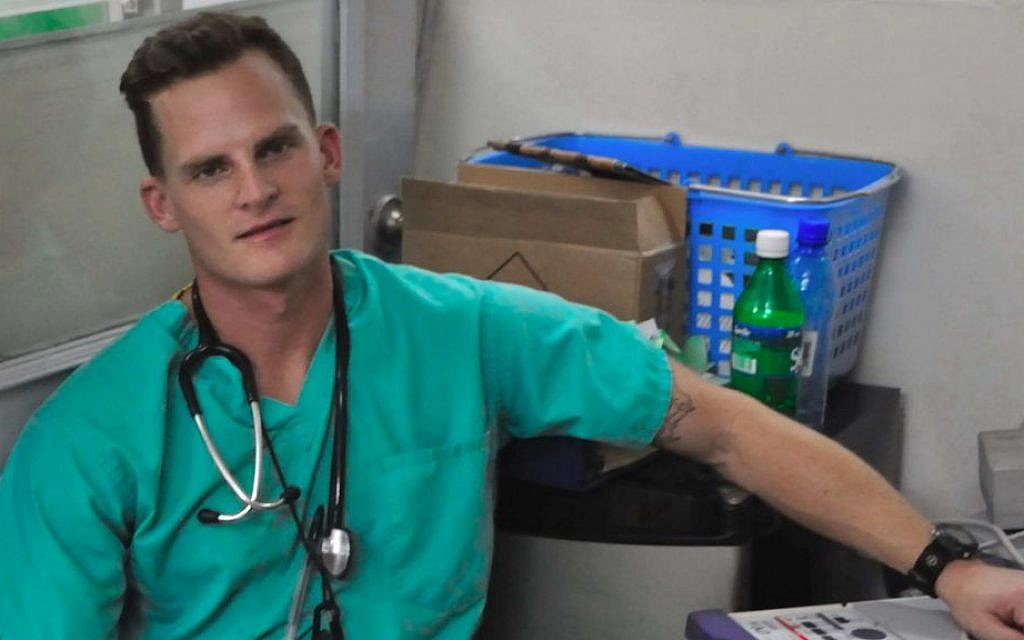 Dr. Adam Kawalek, pictured here in Haiti in 2010, volunteered in Gaza this summer with the International Medical Corps. (Courtesy)
