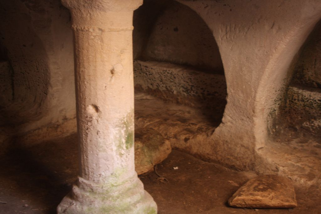 The cave of the column at Burgin (Photo credit: Shmuel Bar-Am)