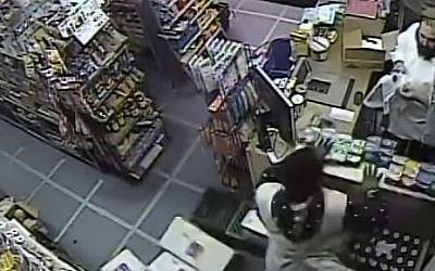 Image showing vandalism at a Crown Heights kosher market. (YouTube screen capture)