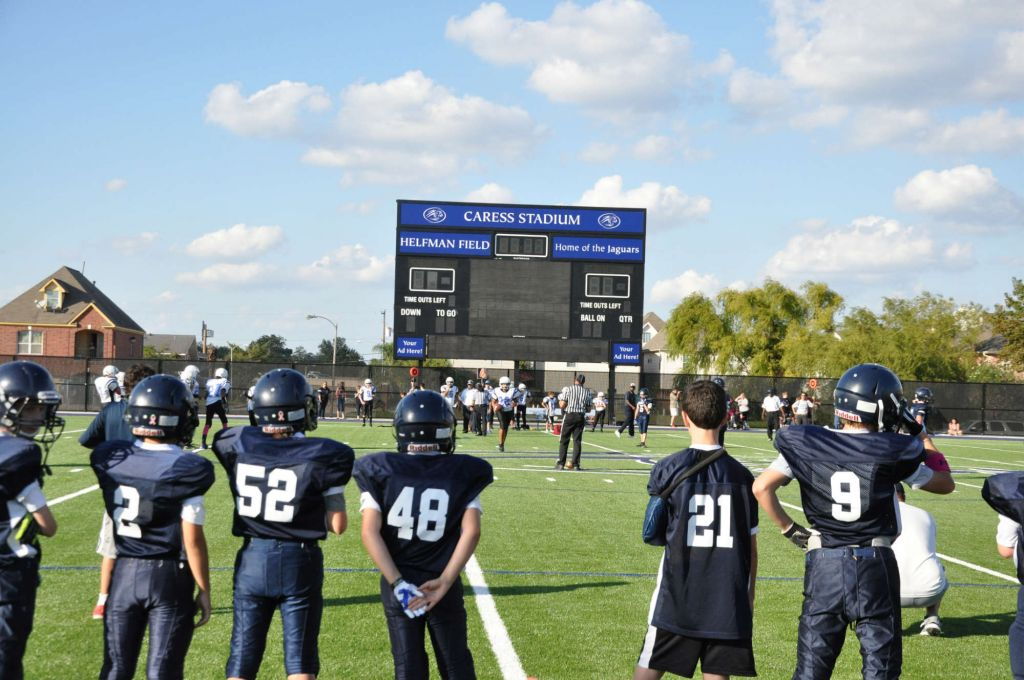 The Emery/Weiner School in Houston spent $5 million on new sports and fitness facilities, including this new playing field. (Courtesy Emery/Weiner School/JTA)