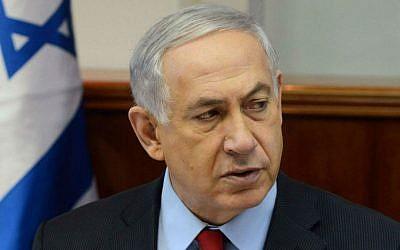 Prime Minister Benjamin Netanyahu, September 23, 2014. (photo credit: Haim Zach/GPO/Flash90)
