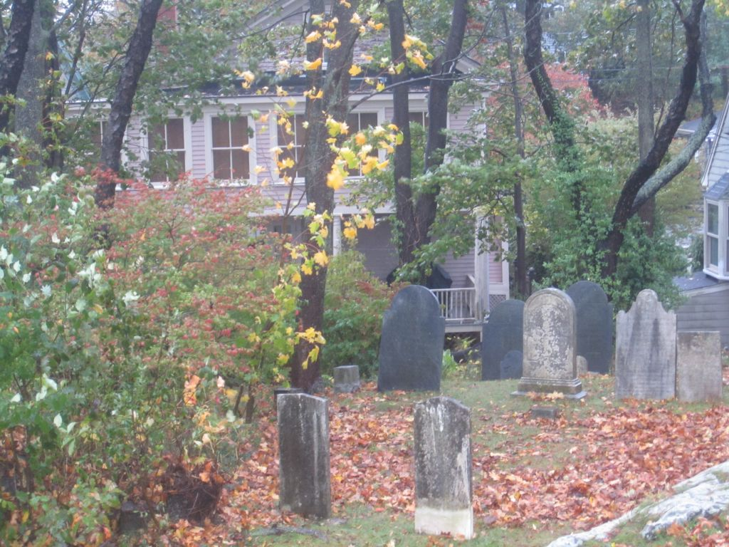 The Howard Street Cemetery in Salem, Massachusetts, where several people associated with the 1692 witchcraft trials were interred, and where Giles Corey was supposedly pressed to death (photo credit: Matt Lebovic)