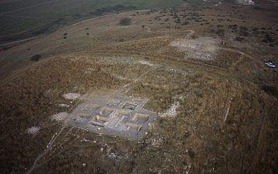An aerial view of Tel Burna, a Canaanite and Israelite site near modern day Kiryat Gat. (photo courtesy Skyview)