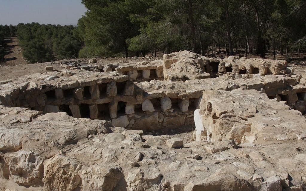 The columbarium on the Golden Trail (photo credit: Shmuel Bar-Am)