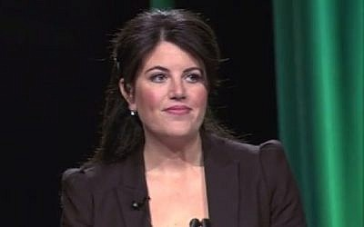Screenshot from Monica Lewinsky's first speech in 13 years to Forbes' Under 30 Summit, Monday, October  20, 2014.