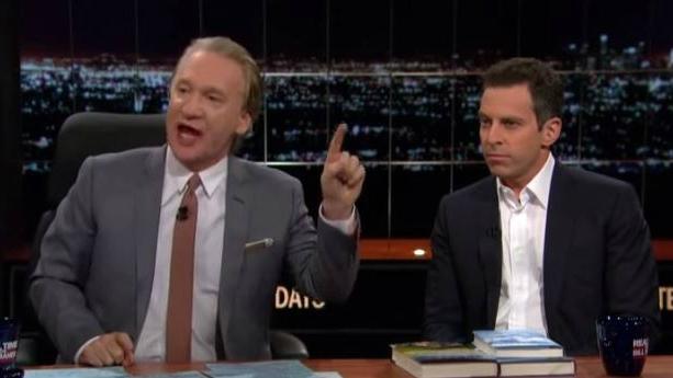 Bill Maher (L) and Sam Harris (R) having a debate on Islam on October 3, 2014. (YouTube screenshot)