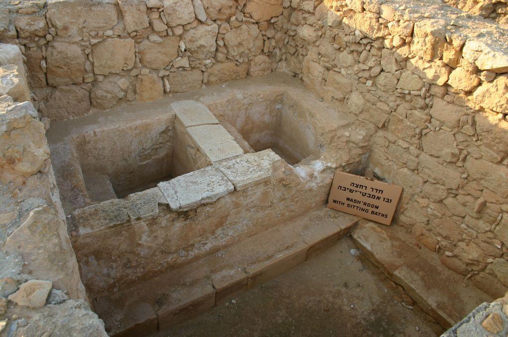 Bathhouse at Mamshit (photo credit: Shmuel Bar-Am)