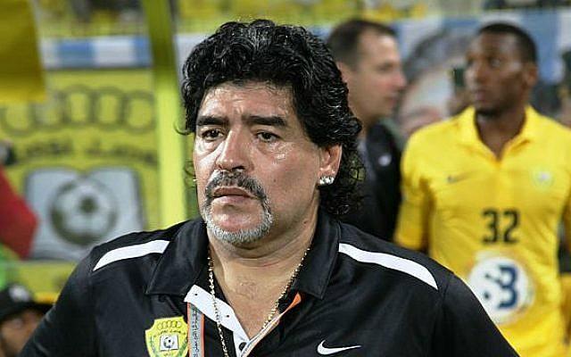 Diego Armando Maradona in 2012 (Photo credit: Wikimedia Commons, CC BY 2.0, Neogeolegend)