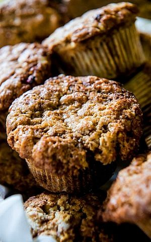 Lori Rapp's basic, daily La Cuisine muffins, made with any kind of fresh fruit (photo credit: Rebecca Kowalsky)