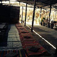One of the options at Yoga Arava, Khan Nahal Arava in Moshav Hazeva, where half a dozen yoga teachers will be leading sessions. (photo credit: Jessica Steinberg/Times of Israel)