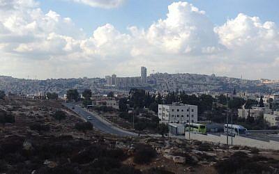 The Givat Hamatos neighborhood, Jerusalem (photo credit: Joshua Davidovich/Times of Israel)