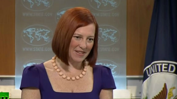 US State Department Spokeswoman Jen Psaki (screen capture: YouTube)