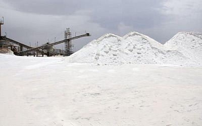 A Salt of the Earth salt mining site near Eilat (Photo credti: Courtesy)