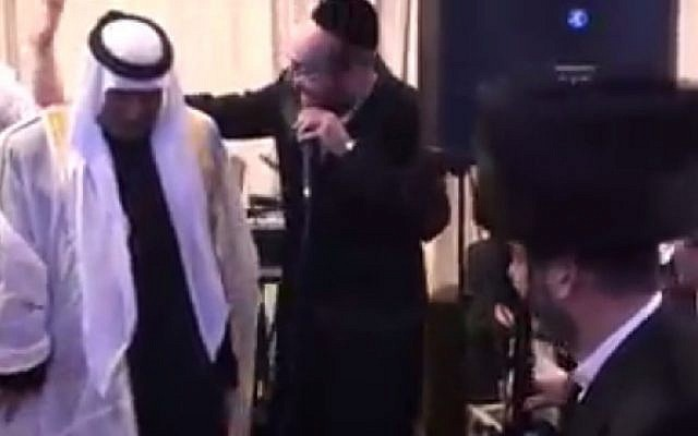 Screenshot From A Video Posted To Facebook Showing Bedouin Sheikh Aqel Al Atrash Dancing At