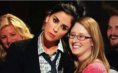 Comedian Sarah Silverman hosting 'Saturday Night Live.' (photo credit: YouTube screenshot)