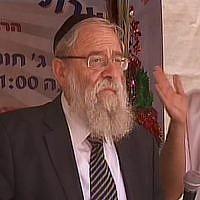 Rabbi Aryeh Stern  (Screen capture: Channel 2)