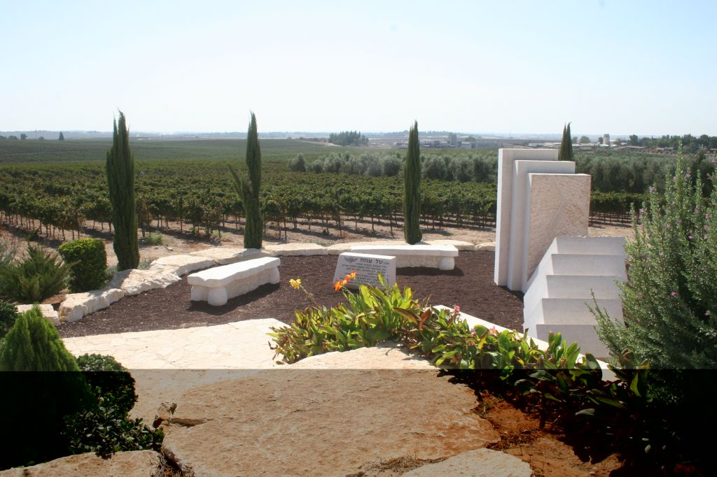 Cypress trees at the Tal Tzemach memorial, Kibbutz Hulda (photo credit: Shmuel Bar-Am)