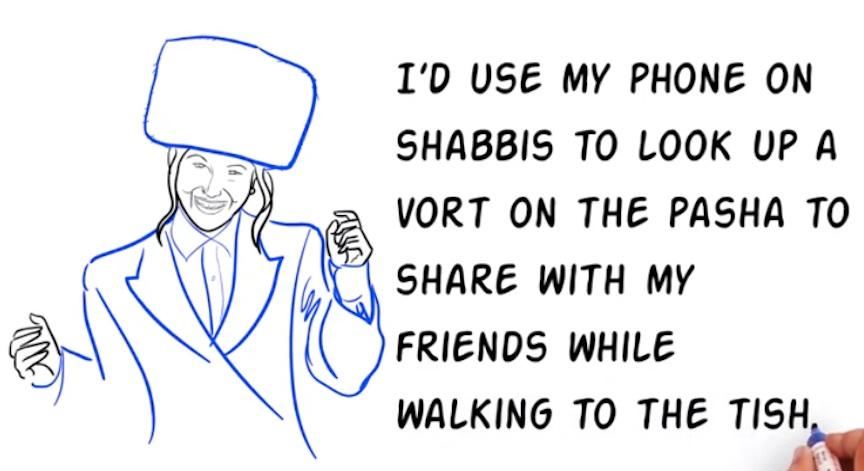 Shabbos app screenshot (Photo credit: Courtesy)