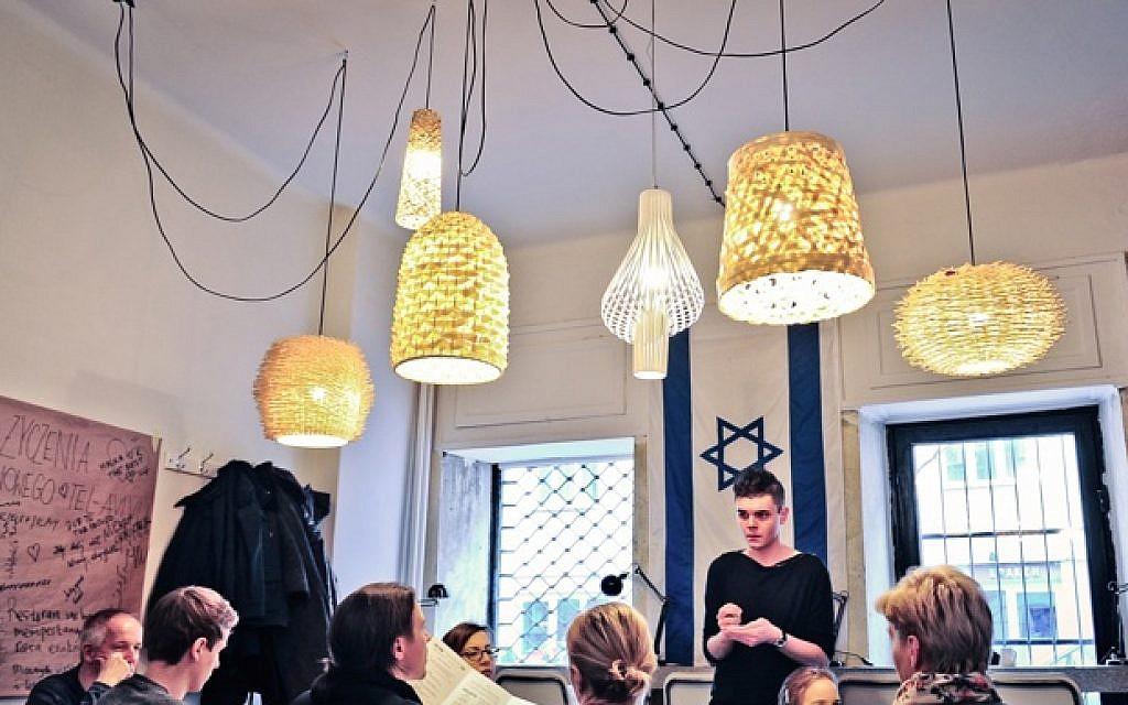 A Scene Inside The Tel Aviv Cafe In Warsaw, Whose Menu Is Full Of Tel