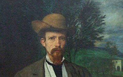 Hans von Marees's Self Portrait with Yellow Hat (1874)         (photo credit: Wikimedia Commons/ James Steakley -- public domain)