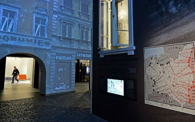 The Core exhibition in the Museum of the History of Polish Jews, in Warsaw on October 21, 2014 (photo credit: AFP/Janek Skarzynski)