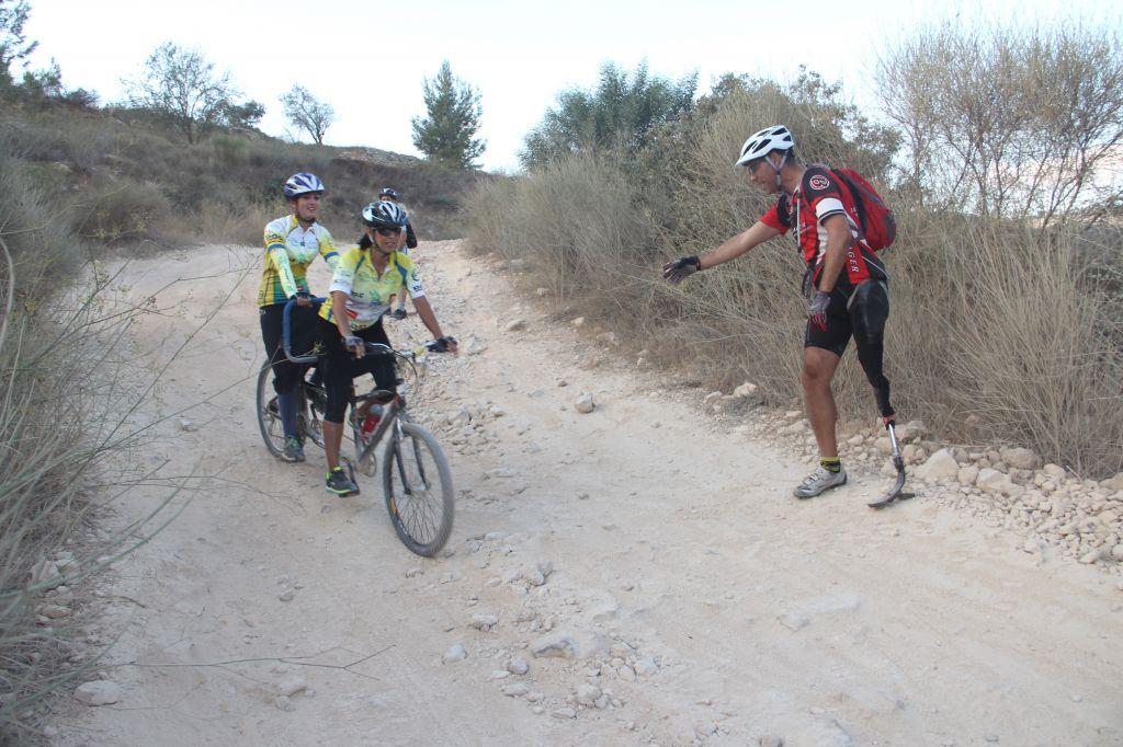 Training on a rocky path (Courtesy Alyn)