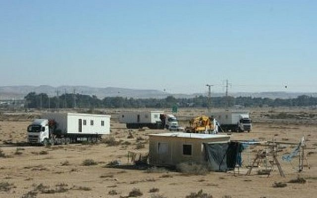 The newly recognized Jewish town of Sheizaf in the Negev desert. (Photo credit: Ayalim Association - www.ayalim.org)