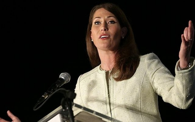 Democratic Senate candidate and Kentucky Secretary of State Alison Lundergan Grimes (D-KY) speaks to supporters following her defeat to Senate Minority Leader Mitch McConnell (R-KY) November 4, 2014 in Lexington, Kentucky (Photo credit: Win McNamee/Getty Images/AFP)