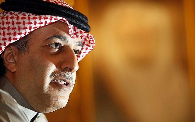 Asian Football Confederation president Sheik Salman Bin Ibrahim Al Khalifa (photo credit: Wikimedia Commons/Lenbj)