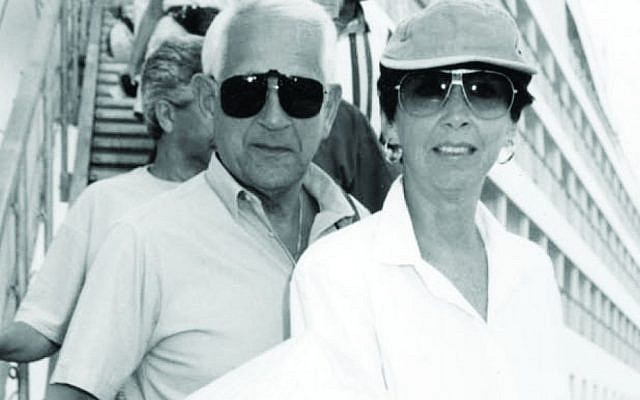 Sylvia and her husband, Annæus Schjǿdt, on a cruise a few months before her death. (Courtesy of Keshet Publishing)