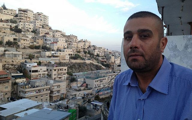 Silwan activist Daoud Siam photo credit: Elhanan Miller/Times of Israel