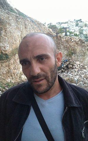 Silwan resident Khaled Zir photo credit: Elhanan Miller/Times of Israel