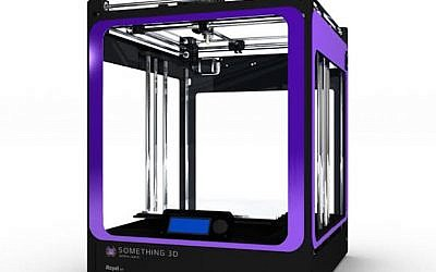 A Something3D purple-trimmed 3D printer (Photo credit: Courtesy)