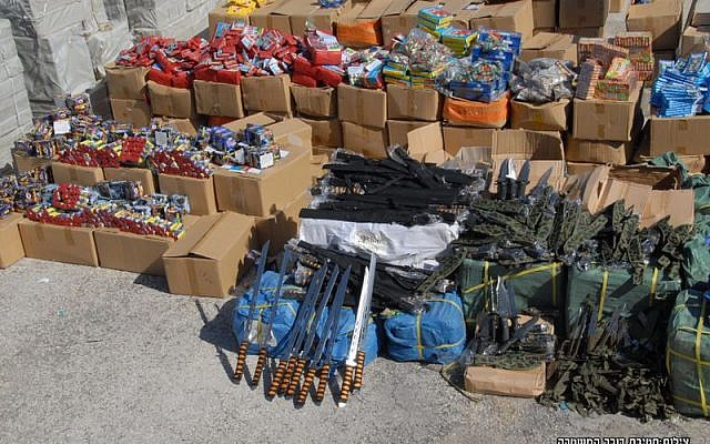 Weapons seized at the Ashdod Port on November 20, 2014. (photo credit: Courtesy Police Spokesman's Unit)