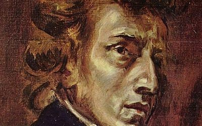 Chopin at 28, from Delacroix's joint portrait of Chopin and Sand (photo credit: Wikipedia / Distributed by DIRECTMEDIA Publishing GmbH)